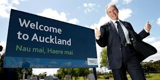 Len Brown welcome to Auckland