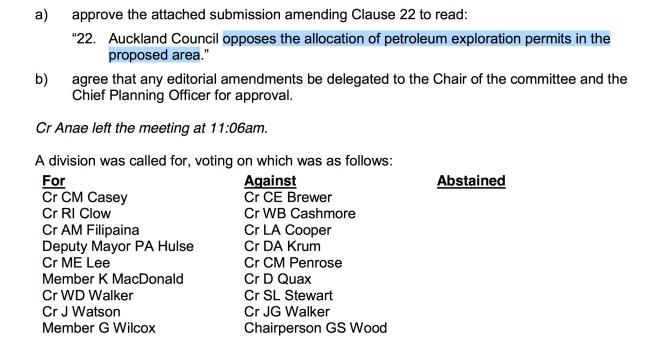 Auckland Council Block offer resolution